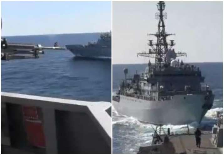 Arabian sea, Russian US warships, Russian US warships collision, warships collision, US Navy, Russia