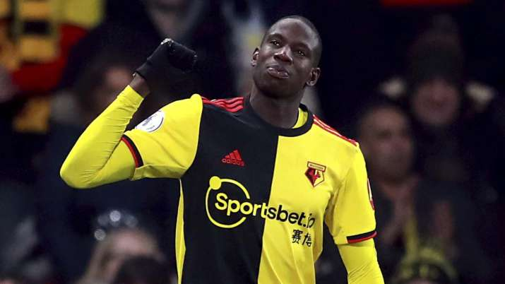 Watford's Abdoulaye Doucoure celebrates scoring his side's
