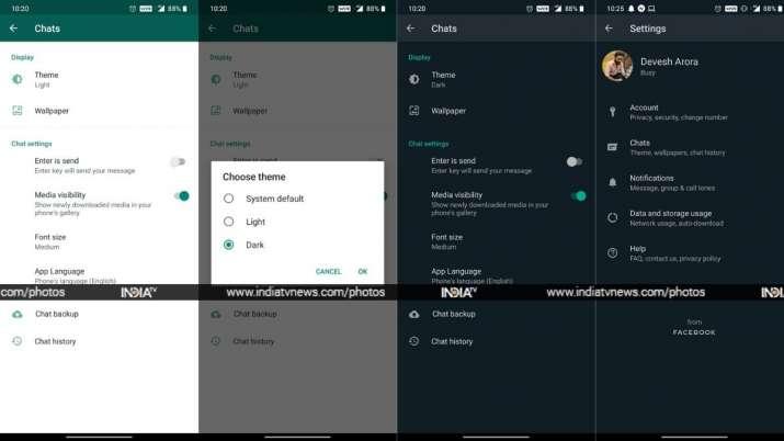 Whatsapp android dark mode