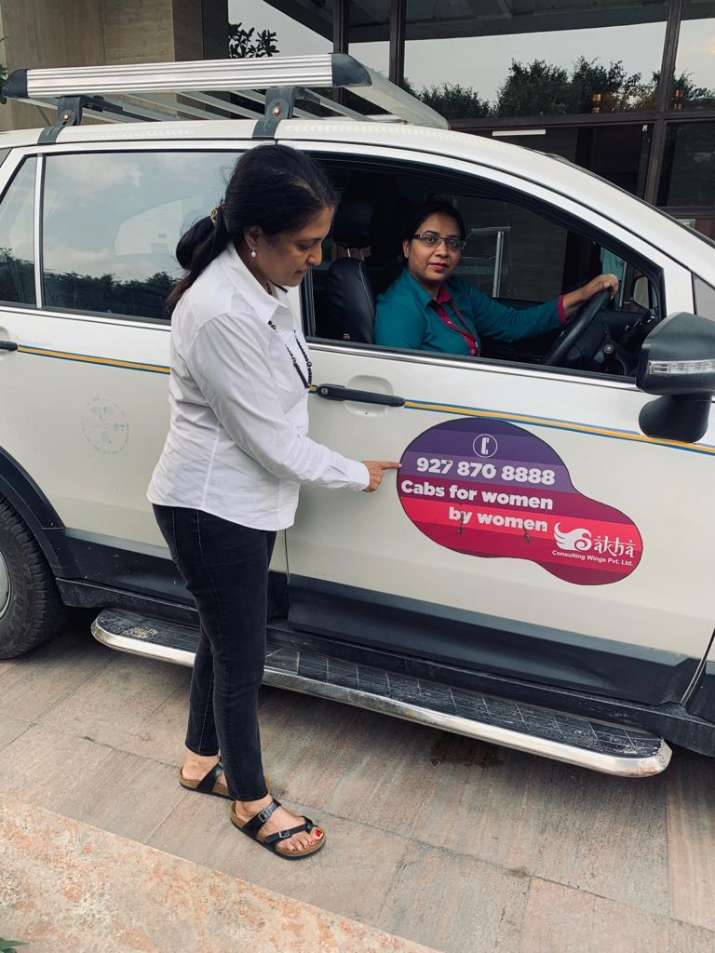 Now, first all women cab service at Delhi airport