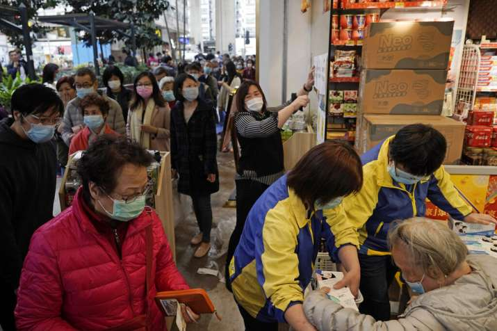 India Tv - Coronavirus outbreak: Panic buying in Hong Kong supermarkets