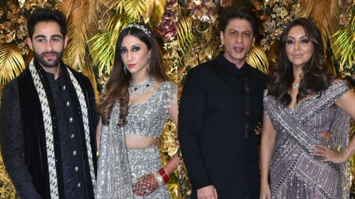 Shah Rukh-Gauri, Rekha and others attend Armaan Jain-Anissa Malhotra wedding celebration party