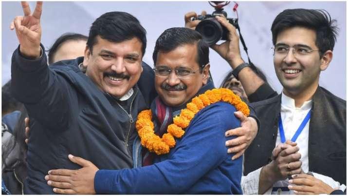 Delhi CM Arvind Kejriwal after AAP's Delhi victory