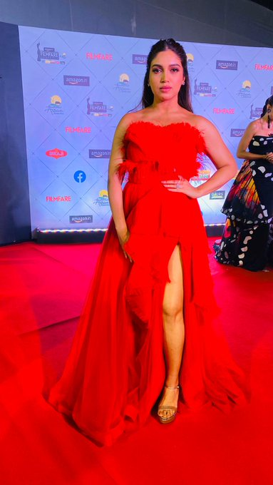 India Tv - Bhumi Pednekar is nothing less than perfection in her red dress