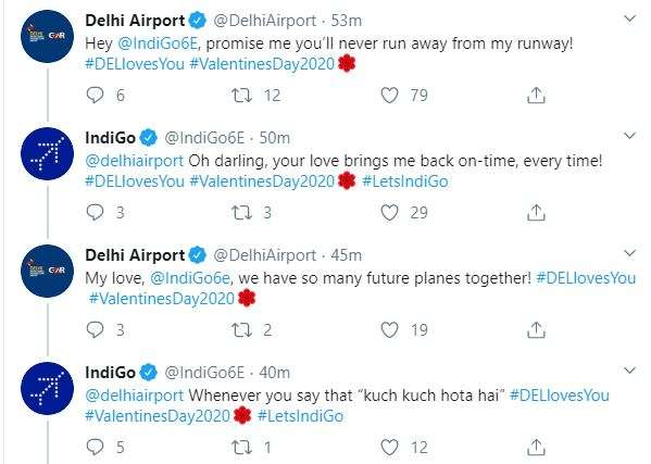 India Tv - My love, so many future planes together: IndiGo replies to Delhi Airport proposal