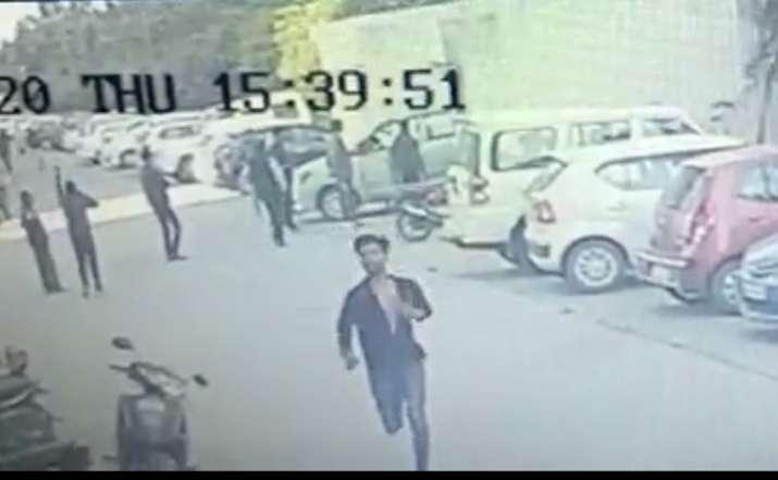 Lucknow B-Tech student murder CCTV video