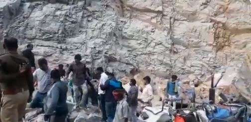 3 labourers trapped in stone mine, rescue operation underway in UP's Sonbhadra
