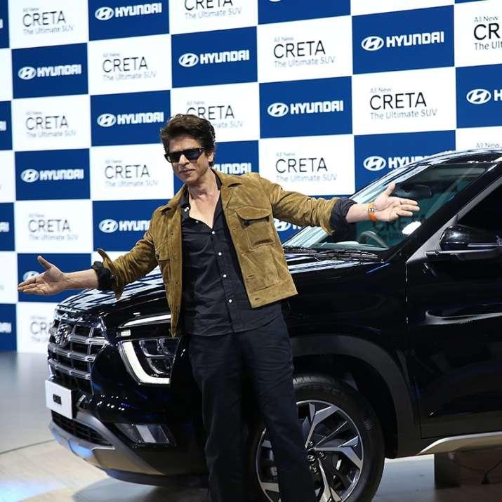 India Tv - Shah Rukh Khan unveiling the new Hyundai Creta