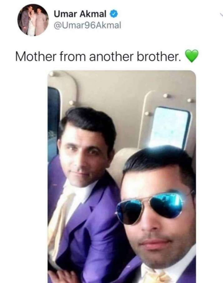 India Tv - Umar Akmal becomes meme fest on Twitter after allegedly posting 'mother from another brother'
