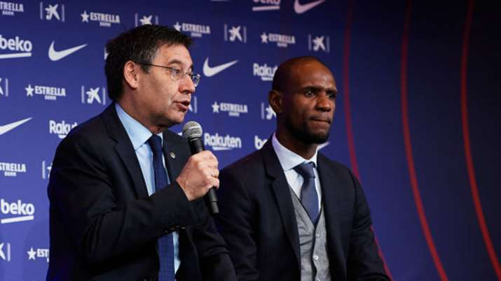 lionel messi, barcelona, barcelona sporting director, eric abidal, eric abidal lionel messi