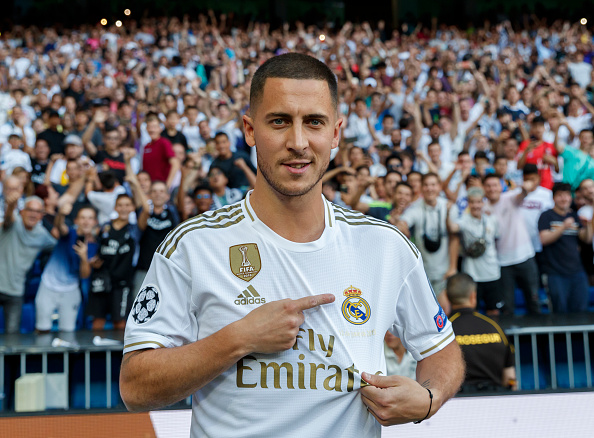 India Tv - Eden Hazard's unveiling as a Real Madrid Player