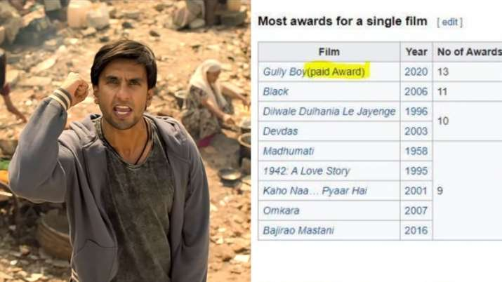 Gully Boy, Filmfare Awards, ranveer singh