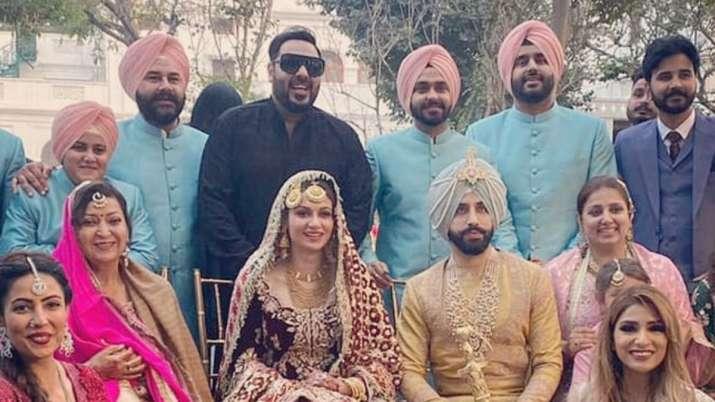 Inside photos from Gurdas Mann's son Gurrickk's wedding with actress Simran Kaur Mundi