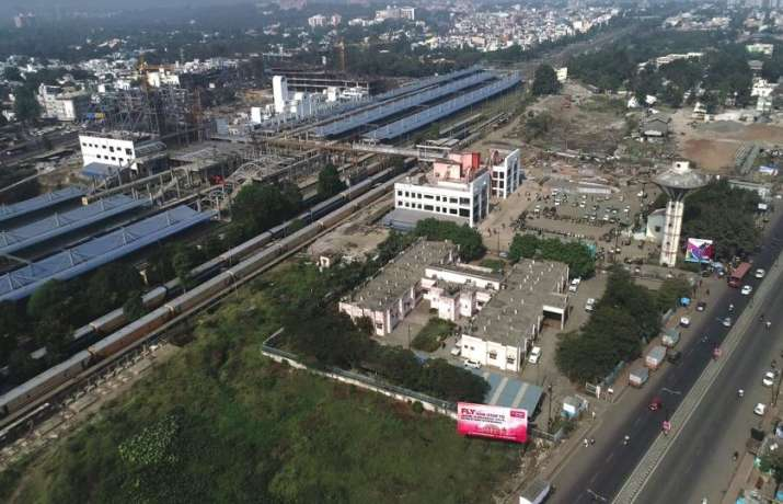East building, new west building and Air Concourse at Habibganj Railway Station (irsdc.in)