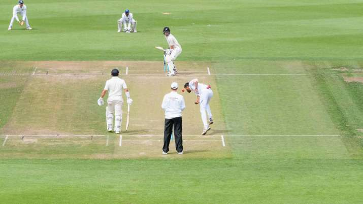 Will Young of New Zealand A looks to bat during Day 2 of