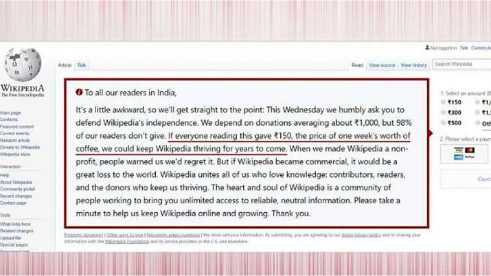 Paywall in the offing? Wikipedia asks Indian users to pay