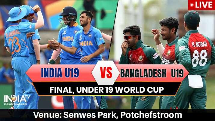 Live Streaming Cricket, India vs Bangladesh, U19 World Cup final: