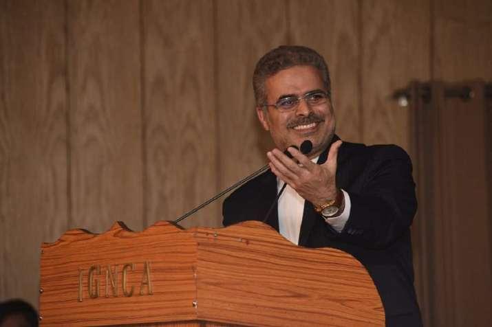 Iran's Ambassador to India Dr Ali Chegini delivering the