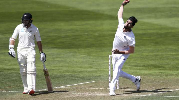 Ishant Sharma in action during the Wellington Test