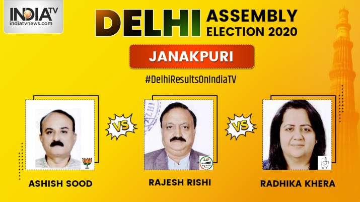 Janakpuri 2020 election result, Rajesh Rishi AAP, Ashish Sood BJP, Rashika Khera Congress, election