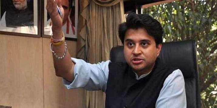 A file photo of Congress leader Jyotiraditya Scindia