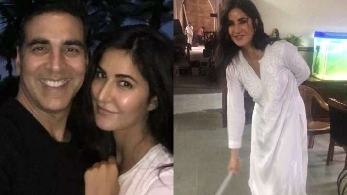 Katrina Kaif beating Akshay Kumar with 'jhaadu' on Sooryavanshi sets will make you go ROFL. Watch v