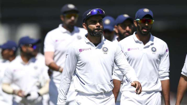 Team India after 1--wicket defeat in Wellington