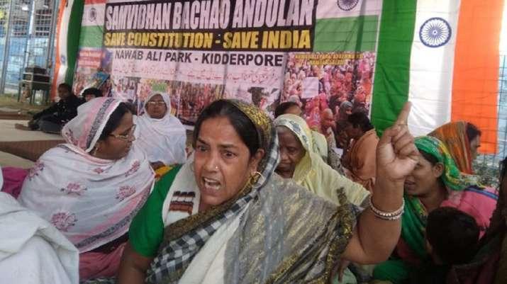 A woman at an anti-CAA protest in Kolkata (representative