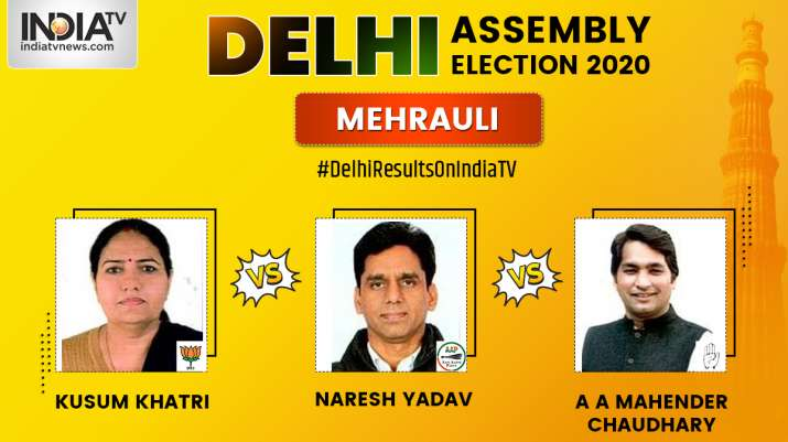 Mehrauli constituency result LIVE: AAP's Naresh Yadav leading in early trends, BJP's Kusum Khatri tr