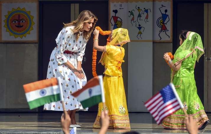 India Tv - Melania Trump with the school kids