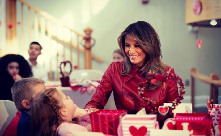 A file photo of US First Lady Melania Trump