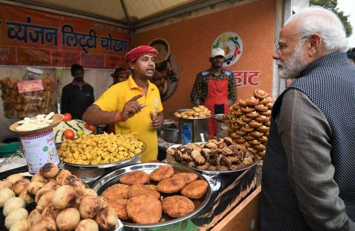 PM Modi Hunar Haat photos litti chokha