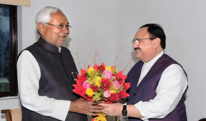 JP Nadda meets Nitish Kumar before concluding Patna tour,