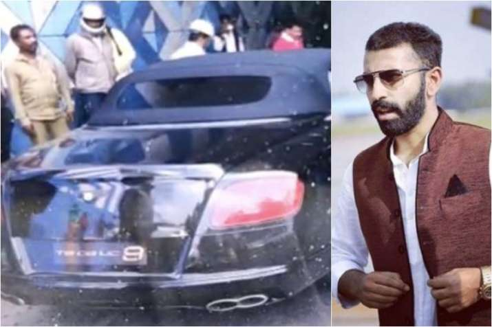 Karnataka MLA's son Nalapad, out on bail after pub assault, flees after ramming his luxury Bentley