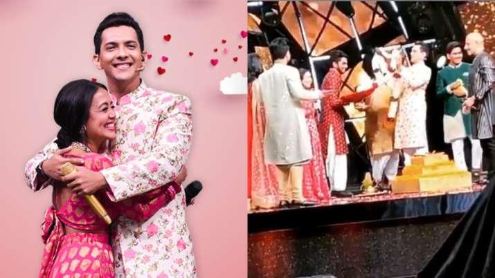 Video of Neha Kakkar, Aditya Narayan taking 'pheras' on Indian Idol 11 goes viral