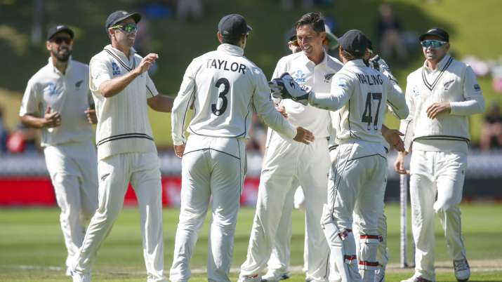 New Zealand defeated India by 10 wickets in Wellington