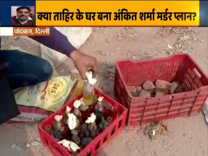 Northeast Delhi violence, Petrol bombs found on AAP leader Tahir Hussain's rooftop, Tahir Hussain's