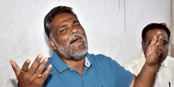 A file photo of former MP Pappu Yadav