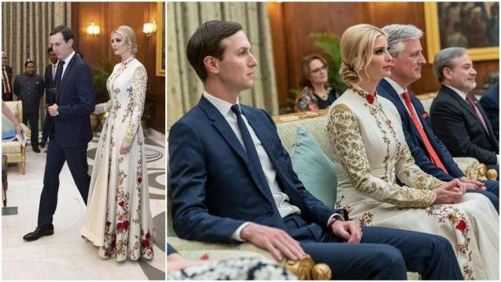 Ivanka Trump dons embroidered anarkali by Rohit Bal at Rashtrapati Bhawan dinner, see pics
