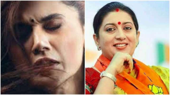 Smriti Irani lauds Taapsee Pannu's Thappad trailer, says
