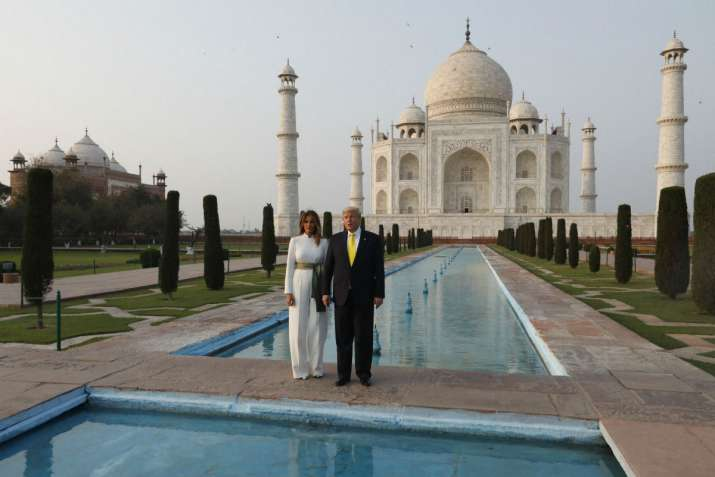 US President Donald Trump, and first lady Melania Trump