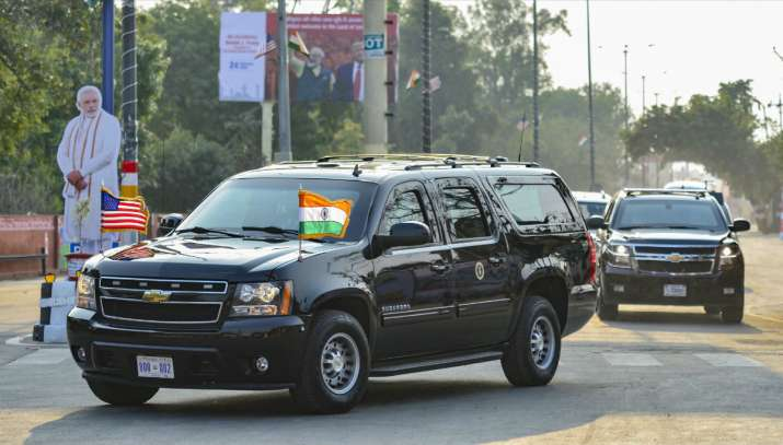 India Tv - US President Donald Trump arrives in Agra