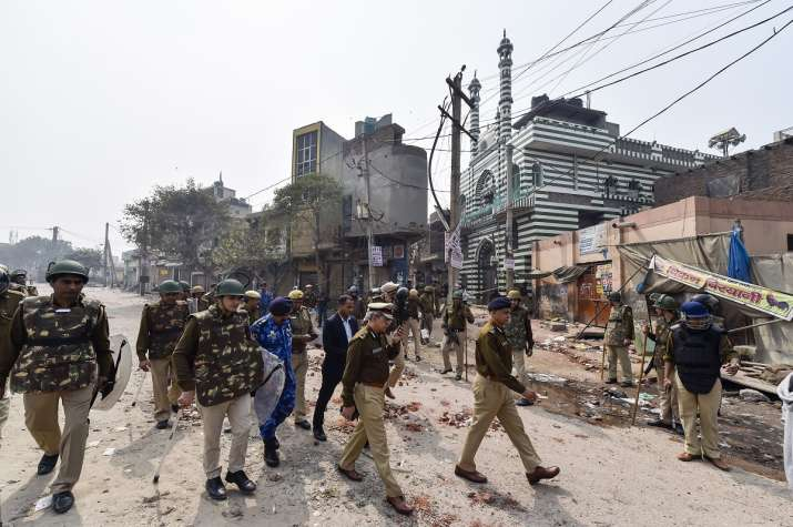 India Tv - Delhi Police Special Commissioner (Law and Order) S N Shrivastava inspects Johar area of the riot-affected north east Delhi.