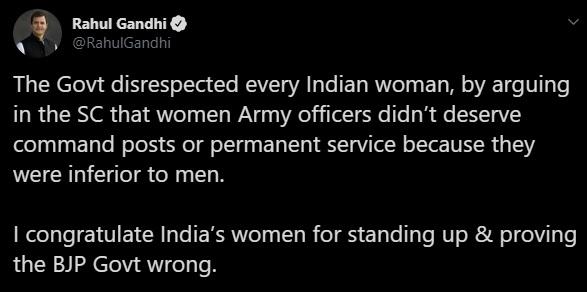 India Tv - Rahul Gandhi's tweet