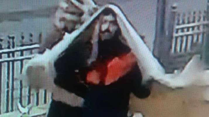 CCTV grab, Ranjit Bachchan suspected killer, Lucknow, Uttar Pradesh