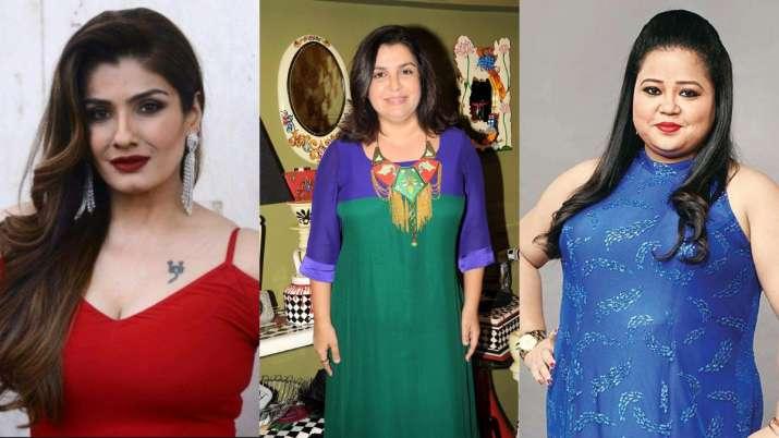 Raveena Tandon, Farah Khan, Bharti Singh