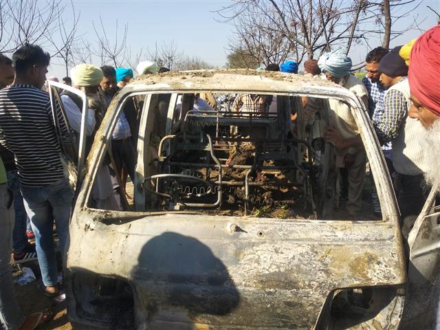 Four students killed as school van catches fire in Punjab's Sangrur