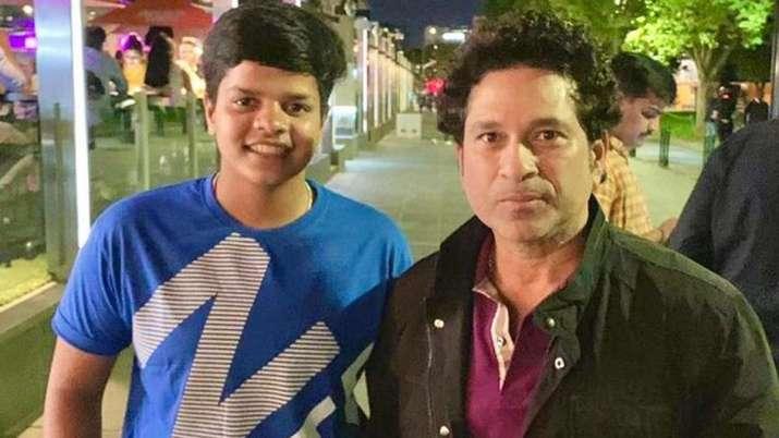 Shafali Verma with Sachin Tendulkar