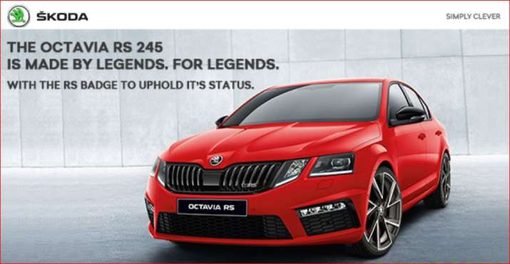 Skoda launches Octavia RS 245 model at Rs 35.99 lakh, online bookings to open on Sunday