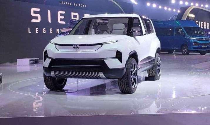 India Tv - Tata Motors reveals concept electric SUV Tata Sierra at Auto Expo 2020